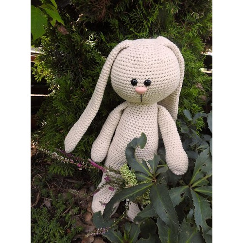 XXL Funny Bunny Basic staand Big Nose linen