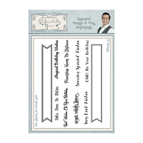 Sentimentally Yours Stamp Banner & Flag Sentiments