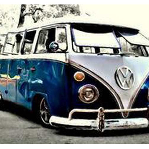 Daimond painting 50 x 70 volkswagenbus bl.