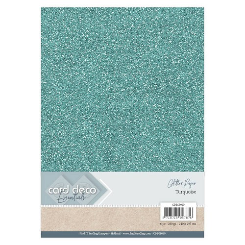 Card Deco Essentials Glitter Paper Mint