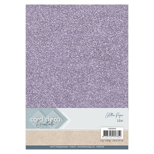 Card Deco Essentials Glitter Paper Lilac