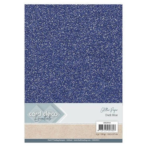 Card Deco Essentials Glitter Paper Dark Blue