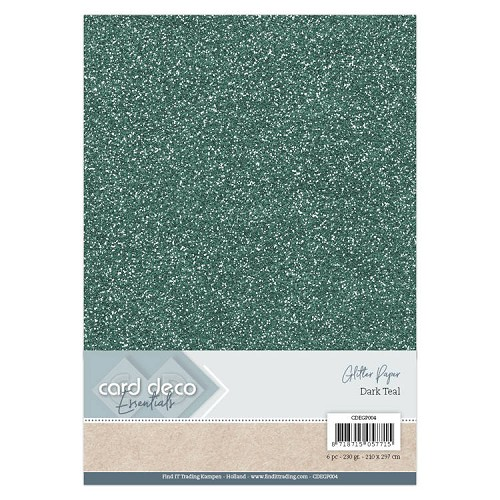 Card Deco Essentials Glitter Paper Dark Teal