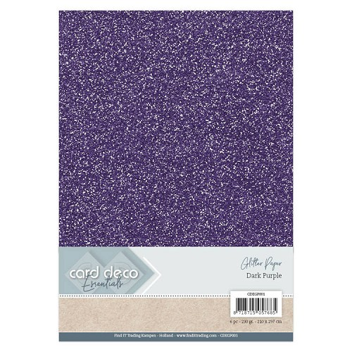 Card Deco Essentials Glitter Paper Dark Purple