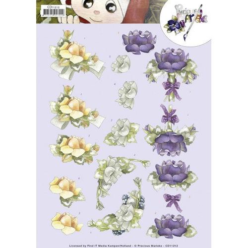 3D Knipvel - Precious Marieke -Roses