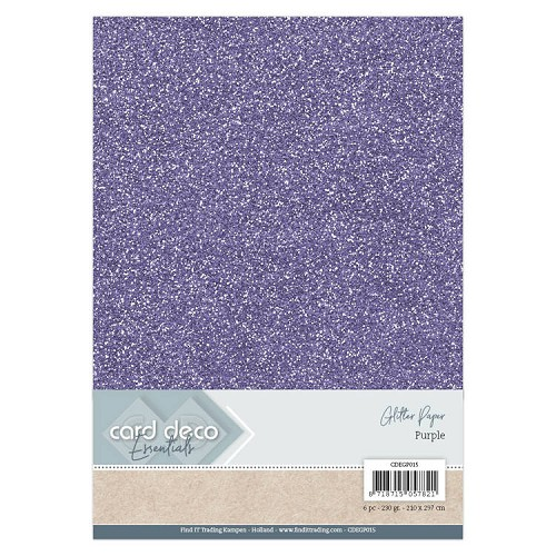 Card Deco Essentials Glitter Paper Purple