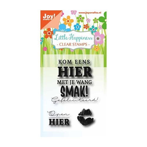 Clear stempel - Birthday text - Smak!