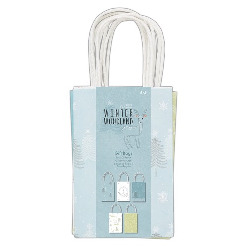 Gift Bags (5pk) - Winter Woodland
