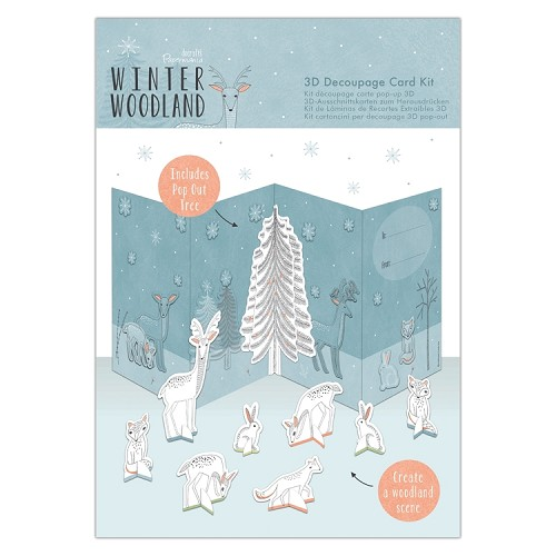 3D Decoupage Card Kit - Winter Woodland