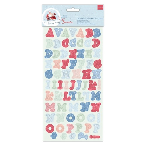 Alphabet Thicker Stickers (166pcs) - At Home with Santa