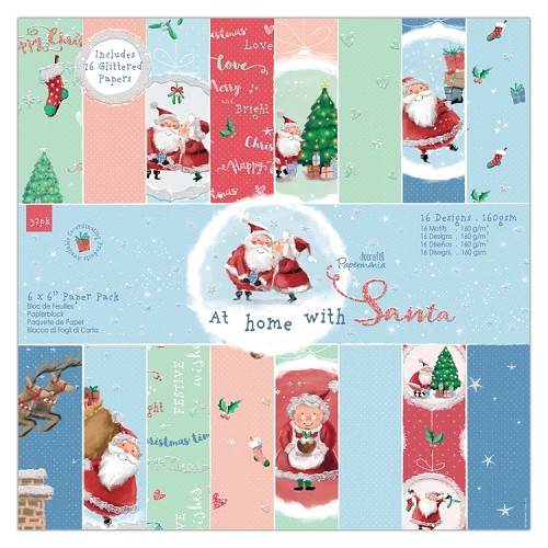 "6 x 6"" Paper Pack (32pk) - At Home with Santa"