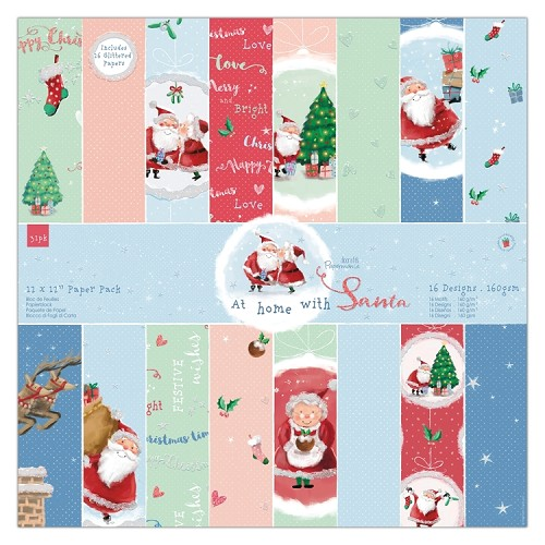 "12 x 12"" Paper Pack (32pk) - At Home with Santa"