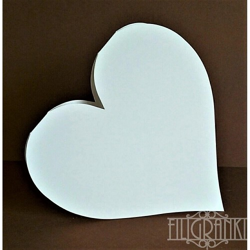 Heart Cards set 5pcs white