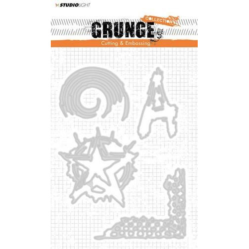 Studio Light Embossing Die Cut Stencil Grunge Coll. nr 151 STENCILSL151 145 x 110 mm (11-18)