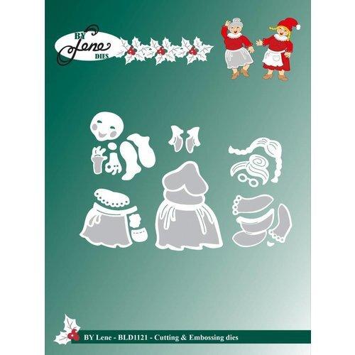 By Lene Cutting & Embossing Dies Santa`s Wife