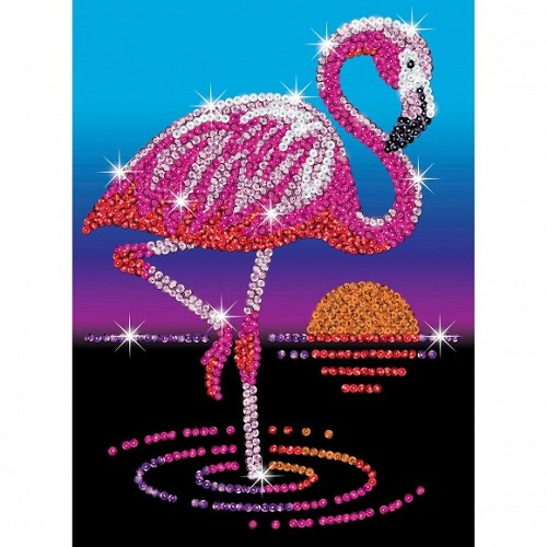 Sequin Art Red flamingo Frankie