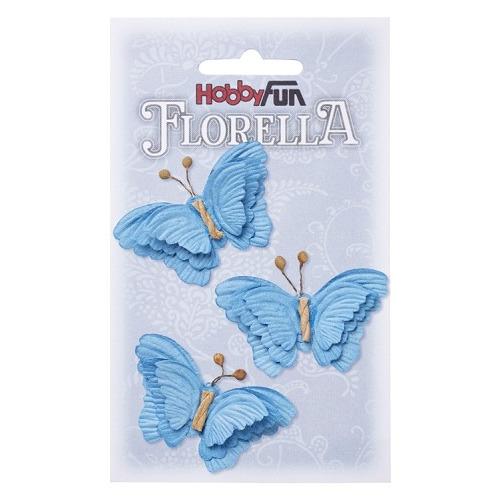FLORELLA-Vlinders blau, 6cm