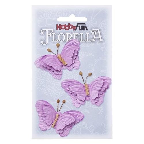 FLORELLA-Vlinders lavendel, 6cm