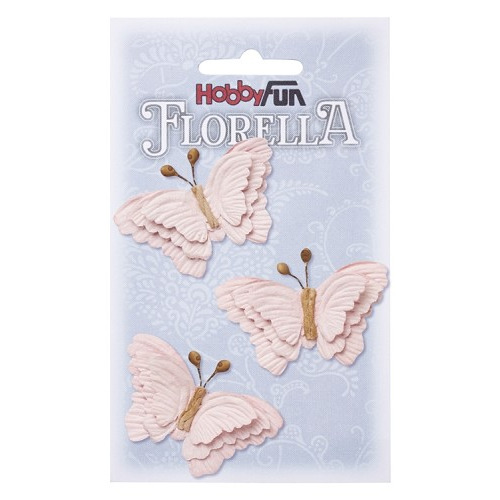 FLORELLA-Vlinders zartrosa, 6cm