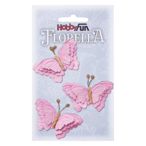 FLORELLA-Vlinders rosé, 6cm