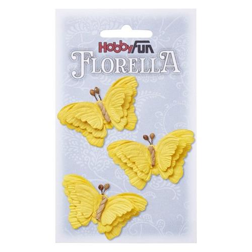 FLORELLA-Vlinders gelb, 6cm
