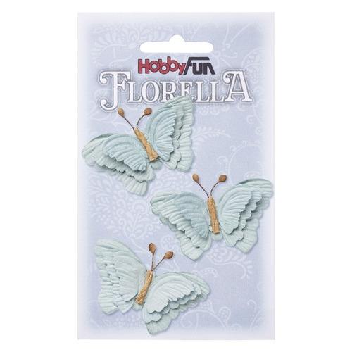 FLORELLA-Vlinders hellblau, 6cm