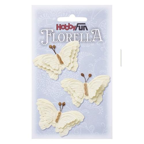 FLORELLA-Vlinders creme, 6cm