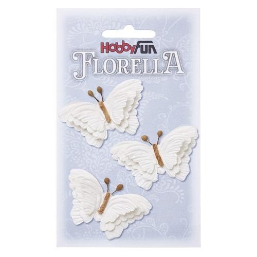 FLORELLA-Vlinders weiss, 6cm