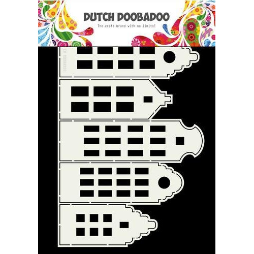 Dutch Doobadoo Dutch Card Art kaArt grachtenpanden A4 470.713.696 (11-18)