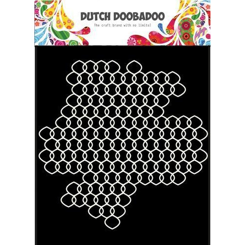Dutch Doobadoo Dutch Mask Art 15x15cm Grid gaas 470.715.614 (11-18)