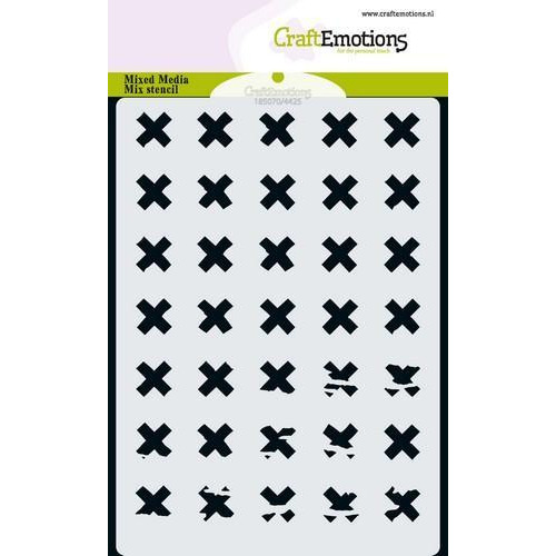 CraftEmotions MM Mix stencil  design  'X' A6 (11-18)