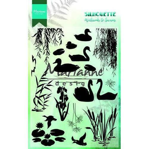 Marianne D Clear Stamps Silhouette Wetlands CS1017 150mmx115 mm (12-18)