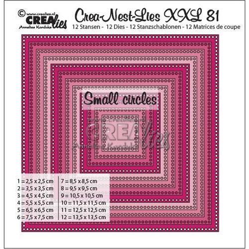 Crealies Crea-Nest-Lies XXL no 81 vierkanten -kleine gaatjes CLNestXXL81 13,5x13,5cm (11-18)