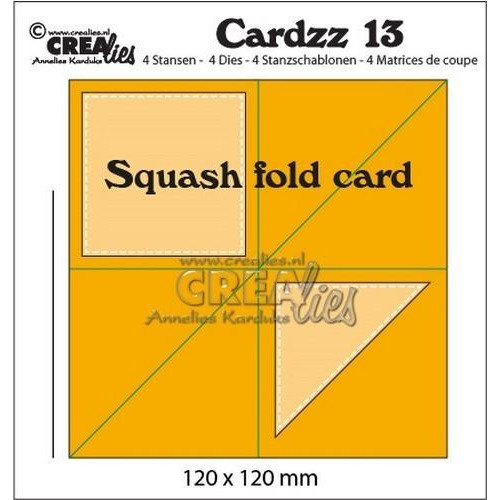 Crealies Cardzz no 13 squash fold card CLCZ13 120x120mm (11-18)