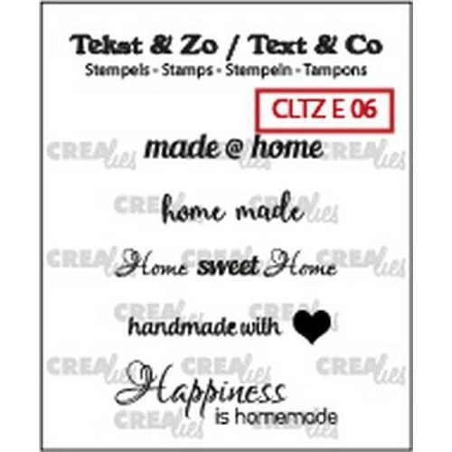 Crealies Clearstamp Tekst & Zo text home (ENG) CLTZE06 33mm (11-18)