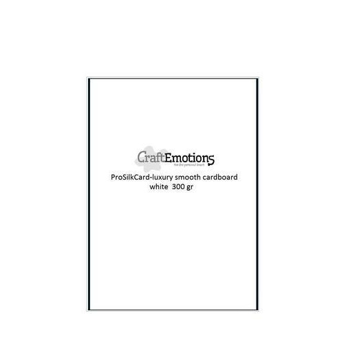 CraftEmotions ProSilkCard - luxe glad karton wit 50 vl A4 - 300 gr
