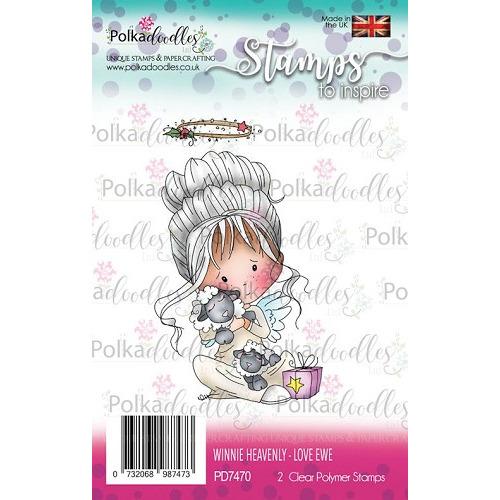 Polkadoodles stamp Winnie Love ewe