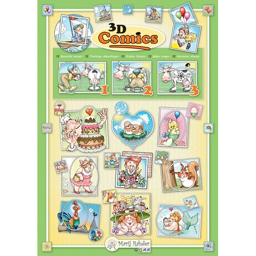 MRJ 3D Comics Cutting A4 set 6 various 3D sheets