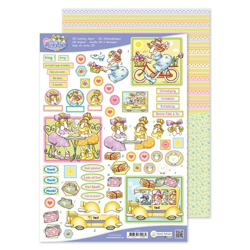 MRJ A4 3D The Aunties Cutting + Potpourri sheet