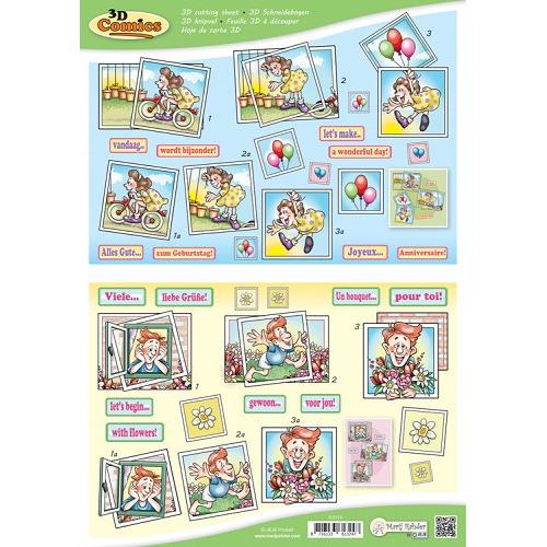 MRJ 10 A4 3D Comics Cutting sheets