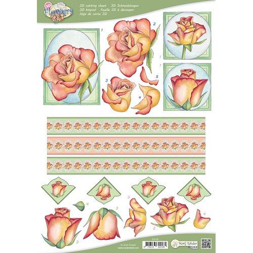 MRJ 10 A4 3D Flowers Cutting sheets