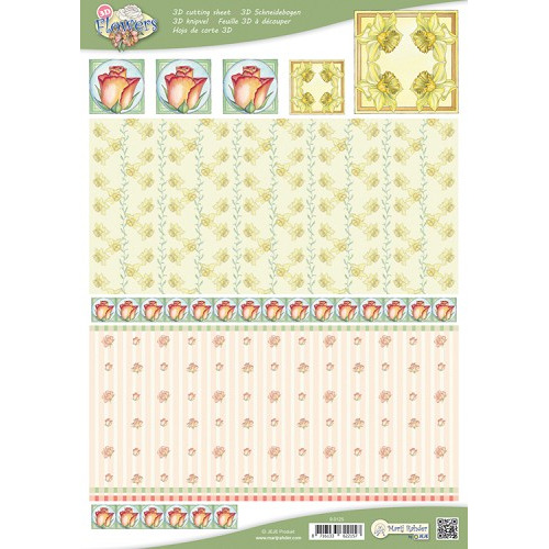 MRJ 10 A4 3D Flowers Cutting sheets