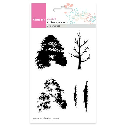 Crafts Too 3D Clearstamp Set - Multi Layer Layer Tree (5pcs)