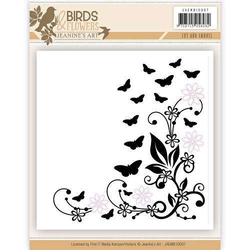 Cut and Embossing folder - Jeanine`s Art - Birds and Flowers