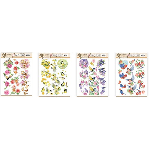 Jeanine`s Art Birds and Flowers uitdruk set