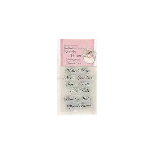 beatrix potter- sentimals stamp set