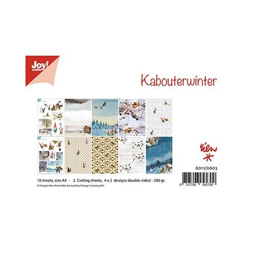 Papier Set A4 Papierset - Rien Poortvliet - Kabouterwinter