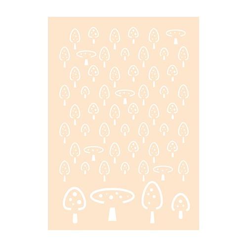Polybesa stencil - Paddestoelen