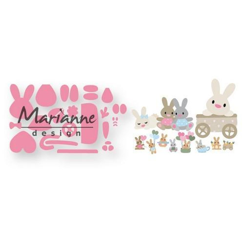 Marianne D Collectable Eline`s baby konijntje COL1463 15x21 cm (01-19)
