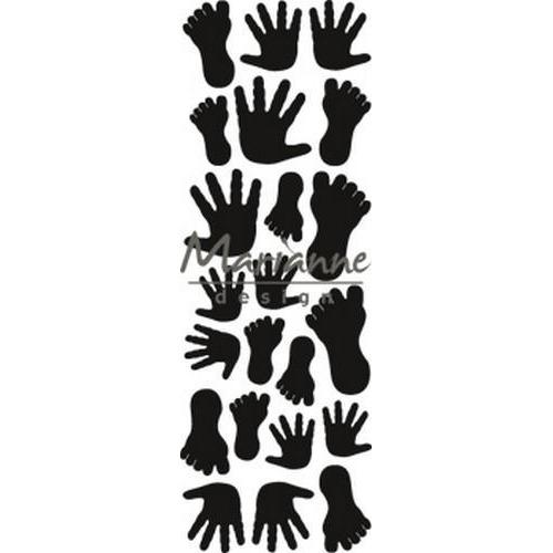Marianne D Craftable Punch die handjes & voetjes CR1457 8x16 cm (01-19)